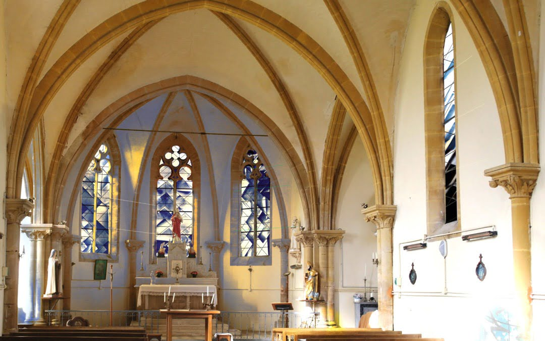 Proposition de 13 vitraux sur le thème de la Contemplation Église de Villers-Le-Tilleul, 08-Ardennes