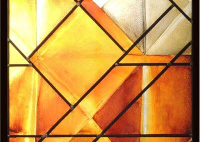 Vitrail Contemporain aux formes géométriques